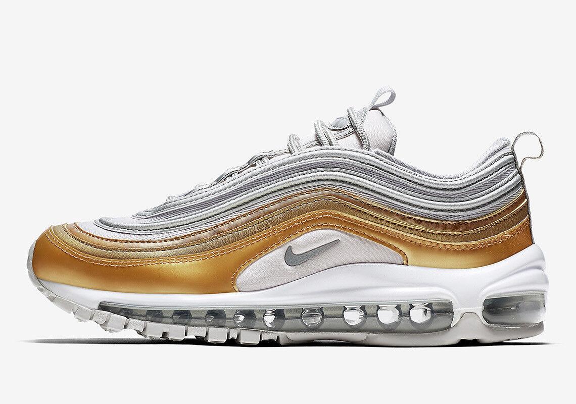 2018 WMNS Nike Air Max 97 SE SZ 5.5 Metallic gold Pack Silver OG AQ4137-001