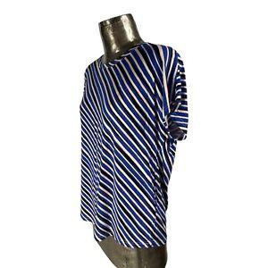 Fransa Blue Pink Top Tunic T-Shirt NEW UK L 14-16 (EU44) Women's RRP £35