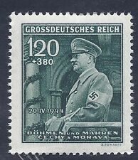 Nazi Germany Third Reich 1944 Swastika B&M Hitler 120+380 stamp MNH WW2 ERA #1
