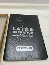 Vintage Sears Craftsman Manual Of Lathe Operation 1970 Machinist Tableswith Box