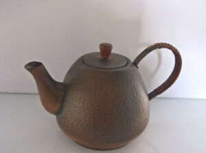 Vintage Copper Jug Teapot Teekessel Hammered Handmade Design Ebay