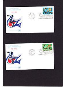 """2 UNO New York FDC Mi.Nr. """" 299 + 300  """" vom 08.10.1976 , siehe Scan"""
