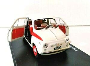 Modelo-De-Carro-Fiat-500-Sport-Abarth-Escala-1-24-Diecast-modellcar-idade-estatica