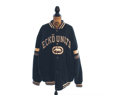 Ecko Unltd Black Letterman Wool 1972 Varsity Lette