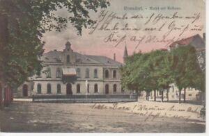 Ronsdorf Markt mit Rathaus gl1907 99.695