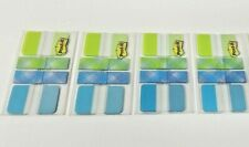 Post It Pattern Collection 44 Tabs Amp 24 Flags Each Aqua Lime Plaid Lot Of 4