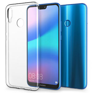 buy online b41e6 c9e3e Details about Huawei P20 Lite Case, Crystal Clear Transparent Best Silicone  Gel Phone Cover