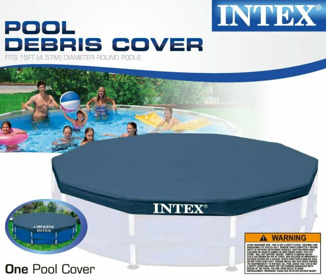 Intex Above Ground Swimming Pools 15 Ft. Metal Frame Cover