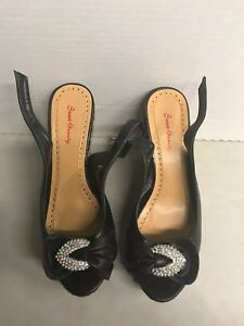 CHLOE-Womens-Shoes-Black-Leather-Size-7