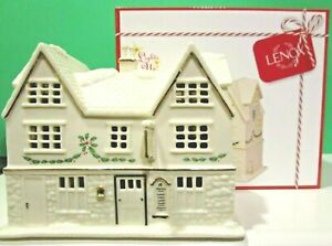 LENOX-CHRISTMAS-VILLAGE-TAVERN-PUB-sculpture-NEW-in-BOX-Holiday-Lighted-series