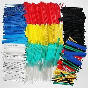50-tlg-Schrumpfschlauch-Set-schwarz-bunt-transparent-rot-weiss-blau-gelb-gruen