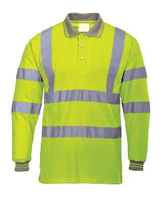 Portwest Hi-Vis Short Sleeved Polo Yellow S477 Case of 5