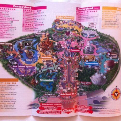 Disneyland /& California Adventure Guide Maps Summer 2012 Cars Land /& Matterhorn