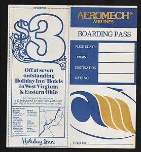Opc Vintage Aeromech Airlines Boarding Pass Ticket Jacket Ebay