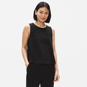 Eileen-Fisher-Silk-Georgette-Crepe-Tank-Top-Women-039-s-Plus-Size-2X