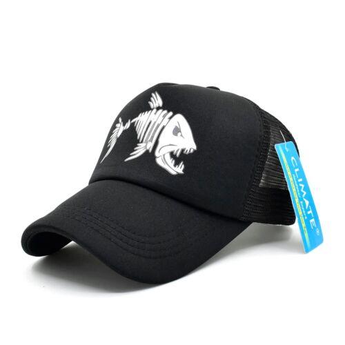 2020 Fishbone Trucker Cap Skeleton Fish Bone HipHop Baseball Summer Man Mesh Hat