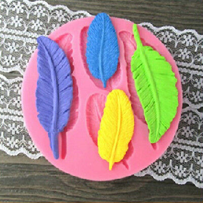 Feather Silicone Fondant Mould for Sugarcraft,Cup Cake,Chocolate Clay Mold 1PC