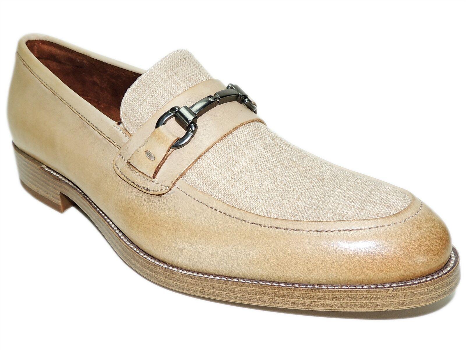 Kenneth Cole New York Men's Brock 2.0 Bit Loafers Beige Leather Size 10 M