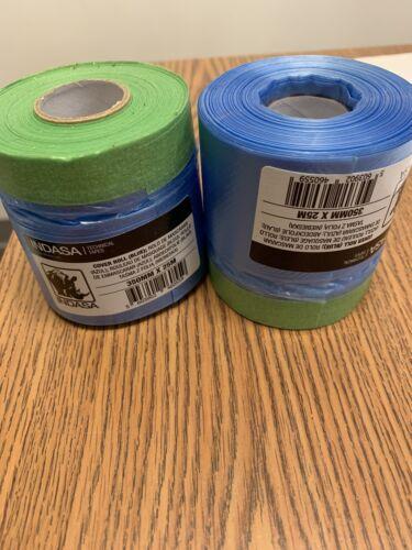 Pre-Taped Masking Film Indasa 350MM X 25 METERS 2 ROLLS