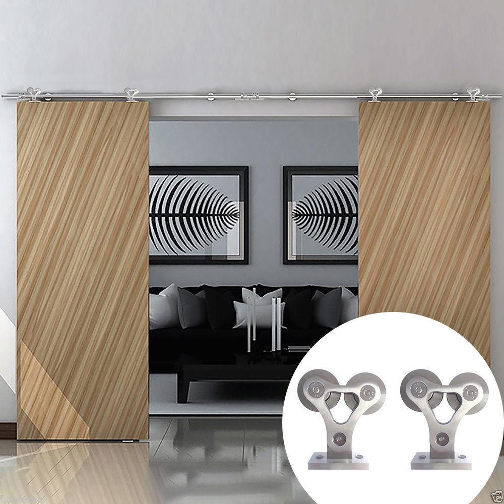 5ft 16ft 304 Stainless Steel Modern Sliding Barn Door