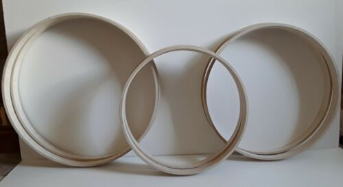 Wooden Handmade drum hoops Grade A birch ply 20inch 40 mm wide  or 50mm wide