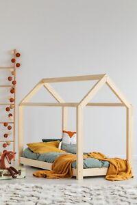 Kinderbett-Kinderhaus-Bett-fuer-Kinder-28-Dimensions-Holz-Haeuschenbett