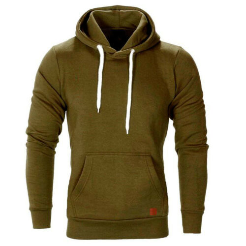 Men Jacket Hoodie Sweatshirt Jacket Long Sleeve Casual Sports Hoodie Tops