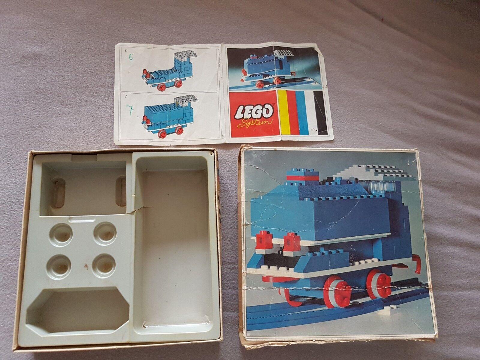 Alte Lego Eisenbahn 112  Leerkarton   1  beschädigt