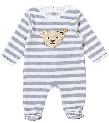 STEIFF® Baby Nicky Strampler Schlafanzug Hellblau Ringel Bär 56 62 68 74 NEU!