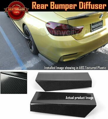 Black Rear Bumper Lip Fin Apron Splitter Diffuser Canard Spoiler For VW CC 08-11