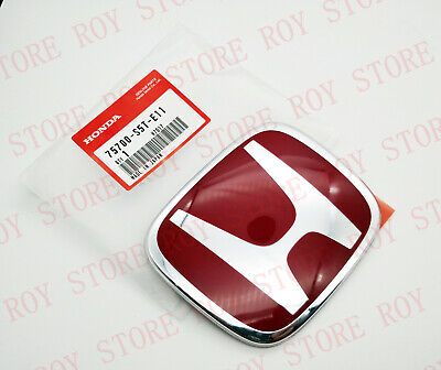 JDM 2PCS KR RED H FRONT REAR BADGE EMBLEM FOR CIVIC SI COUPE 2014-2015
