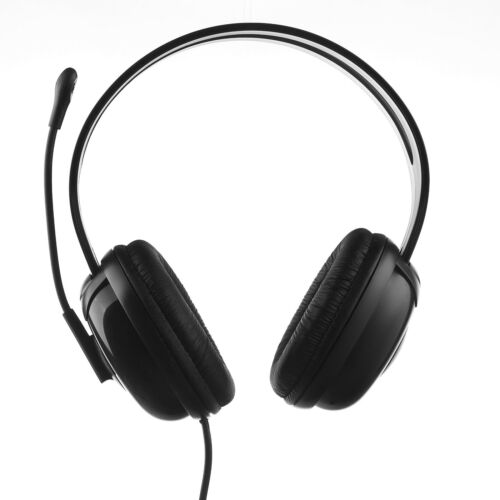 Durherm Computer PC Laptop Notebook Headphone Headset with Boom Microphone