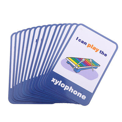 Musical 14Pcs//Set Flash Cards Learning Brighter Child Cognition Flashcards