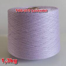075 Lavendel TVU Ocean  Nm 30/2  Baumwolle Acryl Strickgarn Häkelgarn Garn Kone