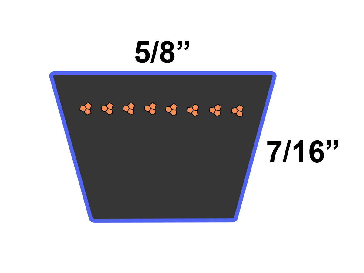 D/&D PowerDrive 574845601 Husqvarna Kevlar Replacement Belt