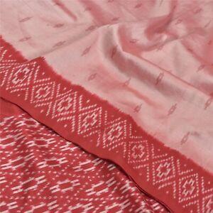 Sanskriti-Vintage-Pink-Pochampally-Ikat-Sarees-Handwoven-Pure-Silk-Sari-Fabric