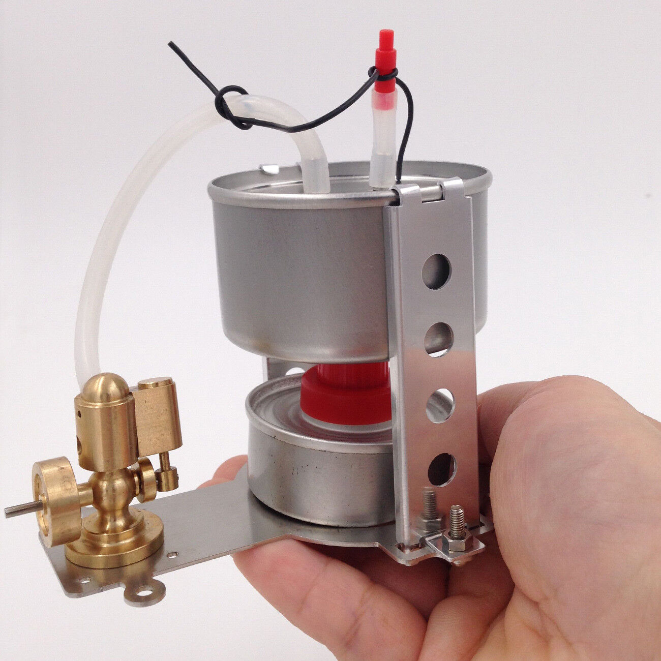 Mini Steam Engine Model Toy with Boiler Micro Steam Heating Generator Motor Toy