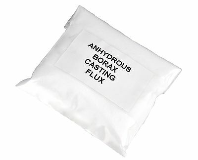 5 oz Anhydrous Borax Graphite Crucible Powder Casting Flux Melting Gold Silver