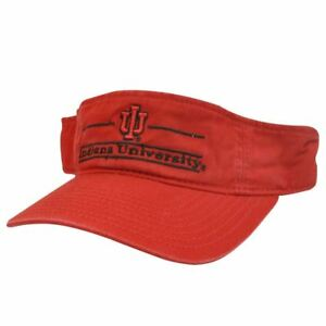 new concept 5b799 bf767 Image is loading NCAA-VISOR-HAT-CAP-INDIANA-HOOSIERS-LOGO-RED-