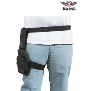 Premium Concealed Carry Leather Thigh Bag With Multi Compartments and Gun Pocket