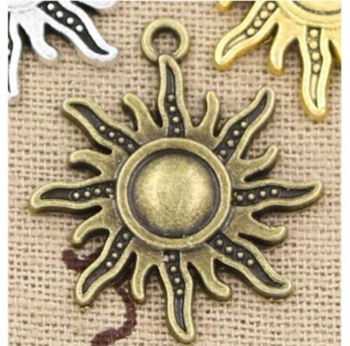 6pcs Charm Sun Pendant Craft Bracelet Necklace Finding Jewelry Making DIY