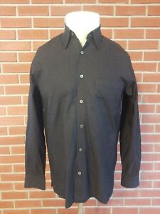 Ermenegildo-Zegna-Long-Sleeve-Button-Front-Shirt-Mens-Medium-Made-in-Italy-EUC