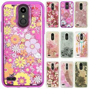 For-LG-K30-Liquid-Glitter-Quicksand-Hard-Case-Phone-Cover-Accessory