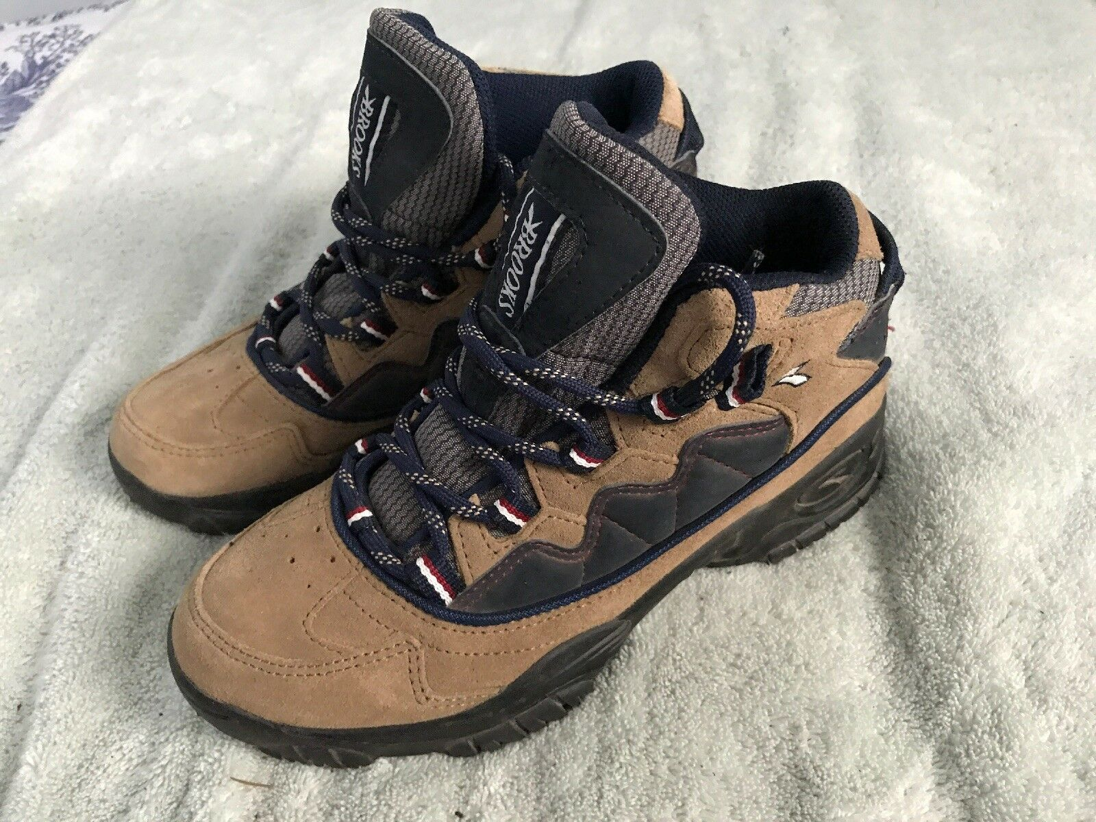 BROOKS Womens sz 7 Leather Hiking Trail Boots Brown SC8