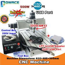 500w 3 Axis Usb 3040z Dq Desktop 3040 Cnc Router Engraving Milling Machine 220v