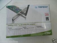 Trendnet 54mbps Pci Adapter 802.11b/g 2.4ghz Wpa-psk 64/128-bit Tew-423pi