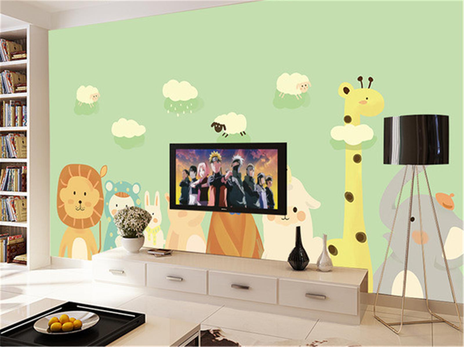 3D Tier Wolken Karikatur 85 Tapete Wandgemälde Tapeten Bild Familie DE Lemon