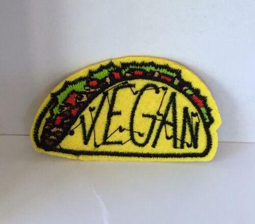Kitsch Vegan Taco brodé Appliques Patch A Coudre ou Fer Sur Nouveauté #499