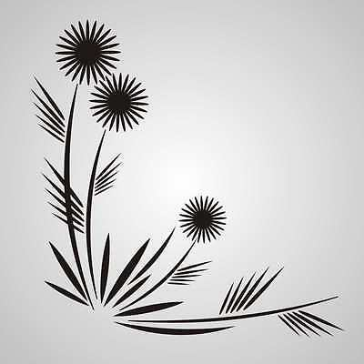 DANDELIONS Reusable Stencil A3 A4 A5 Romantic Shabby Chic Craft DIY Art F23