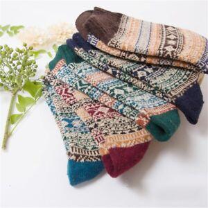 1-Pair-Men-039-s-Thermal-Winter-Warm-Socks-Knit-Crochet-Cotton-Ankle-Socks-2018